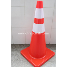 Fluorescent Orange Flexible Road Safety PVC Traffic Cone